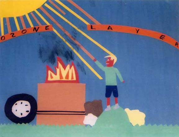"Poster: ""Burn Barrels and Ozone Layer"""